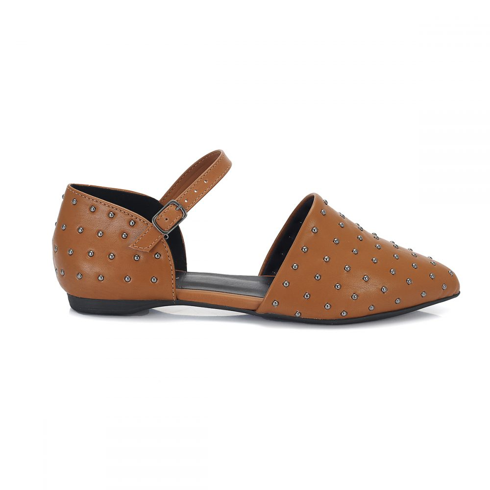 63ff856466 Sapatilha Zara Bico Fino Tachas Camel – Not-me Shoes