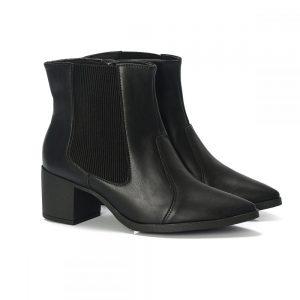 bota, bota bico fino, bota feminina cano baixo, bota preta feminina, bota com elastica, bota salto baixo, (6)
