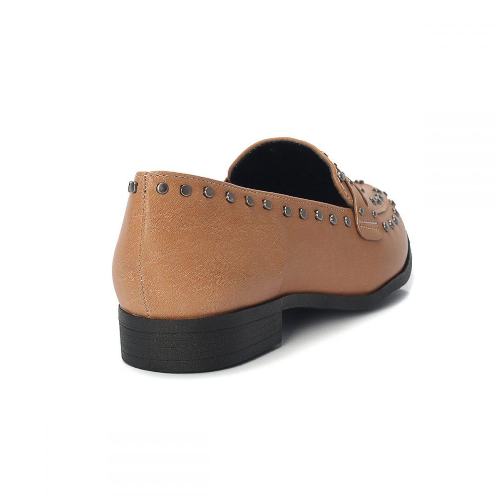 a3c01e124f Mocassim Slipper Tachas Taupe – Not-me Shoes