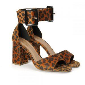 tamanco, sandália gisel, sandália nó, sandália verão, salto bloco, rasteirinha, SANDÁLIA MINIMAL, verde, feminina, animal print, onça