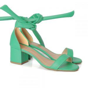 tamanco, sandália gisele, sandália nó, sandália verão, anos 80 salto bloco, rasteirinha, SANDÁLIA MINIMAL, verde, feminina, princesa, sandália nozinho