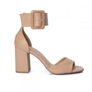 sandalia nude,sandalia gisele, sandalia salto bloco, sandalia salto grosso