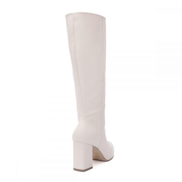 Bota Feminina Over The Knee Branca