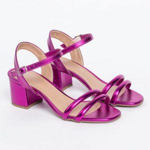 sandalia block pink metal not-me (2)