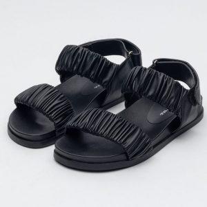 sandalia preta mulher tendencia rasteirinha calçados sapato feminino site online notme shoes comprar papete atacado fabrica revendedor