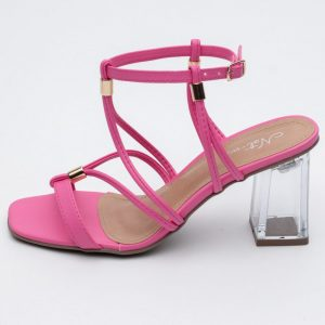 sandalia feminina comprar atacado varejo direto de fabrica amarracao detalhes dourados verao tendencia notme shoes rosa pink loja online